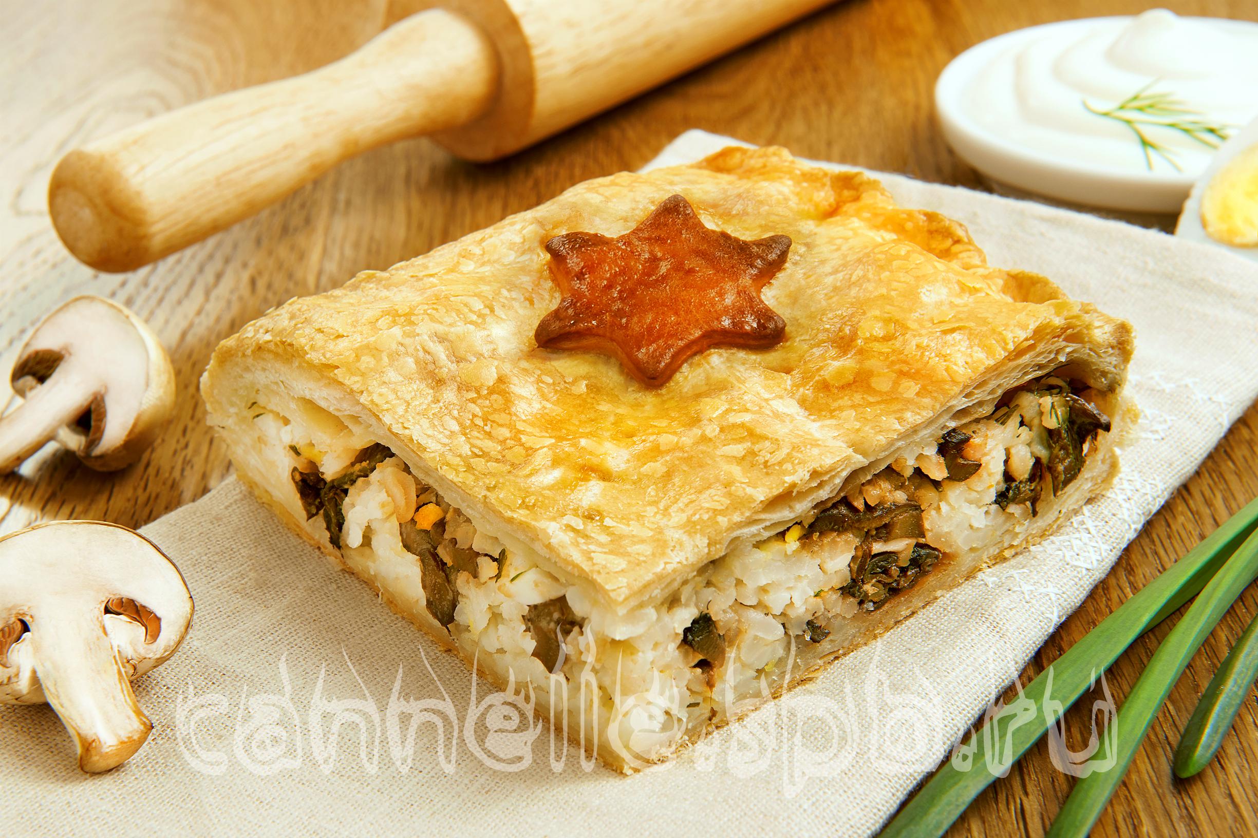 Пирог из судака слоеное тесто пошагово